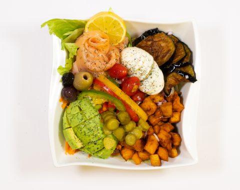 Räucherlachs Salat